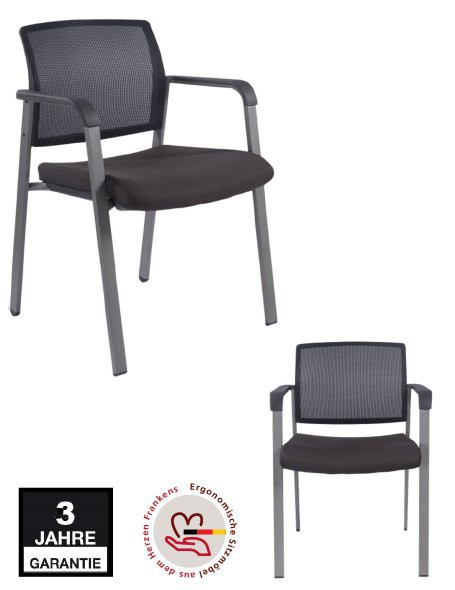 "Besucherstuhl ""my chair net"" 2er Set"