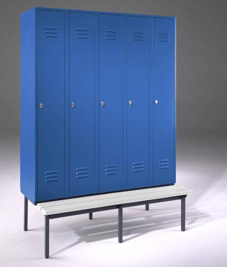 garderobenschrank spind mit sitzbank und 5 abteilen 300. Black Bedroom Furniture Sets. Home Design Ideas