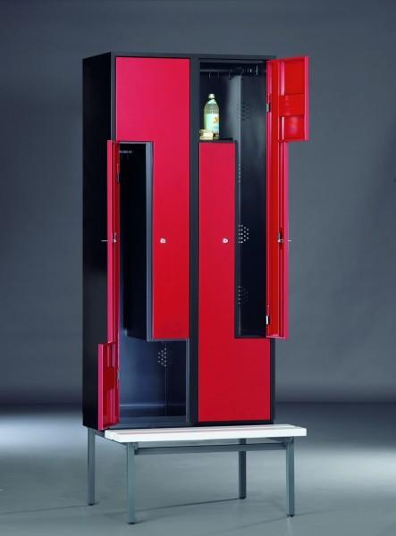 z garderobenschrank mit sitzbank 2 abteile. Black Bedroom Furniture Sets. Home Design Ideas