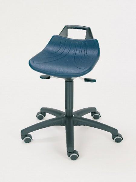 stehhilfe mit gro em pu sitz blau mit rollen. Black Bedroom Furniture Sets. Home Design Ideas