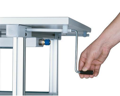 Workline Werkbank h u00f6henverstellbar 1500mm mit Handkurbel
