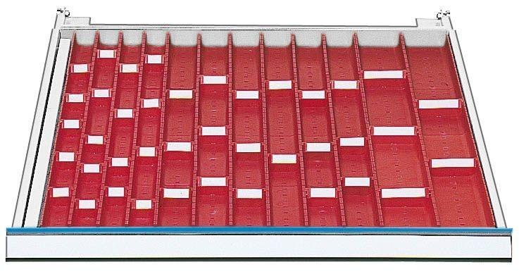 Schubladeneinsatz mit muldenplatten fur variable mulden for Schubladeneinsatz
