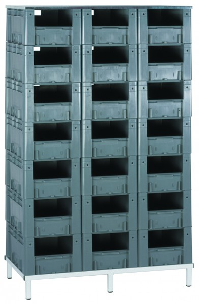 schwerlast transport stapelkasten regal vtr 21 600 1 st ck farbe grau. Black Bedroom Furniture Sets. Home Design Ideas