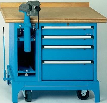 fahrbare werkbank typ fmw 100 4 mit 4 schubladen und schraubstock. Black Bedroom Furniture Sets. Home Design Ideas