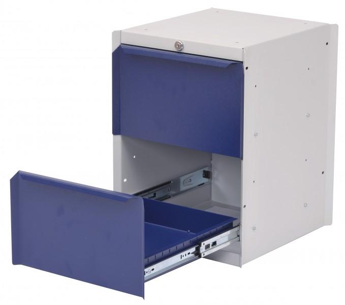 unterbau h nge schrank mit 2 schubladen f r werkbank platten. Black Bedroom Furniture Sets. Home Design Ideas